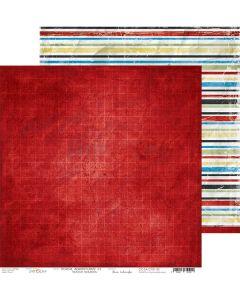 Dvostranski papir - SCHOOL ADVENTURES 02 - 30,5 x 30,5 cm - 250g