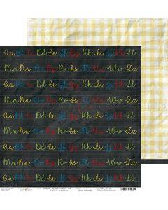 Dvostranski papir - SCHOOL ADVENTURES 06 - 30,5 x 30,5 cm - 250g
