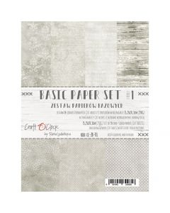 Set papirjev - BASIC PAPER SET 01 15,25 x 20,3 cm