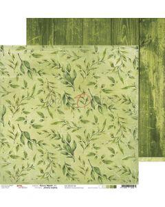 Dvostranski papir - GREEN MOOD 04 - 30,5 x 30,5 cm - 250g