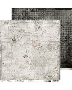 Dvostranski papir - GRAY MOOD 01 - 30,5 x 30,5 cm - 250g