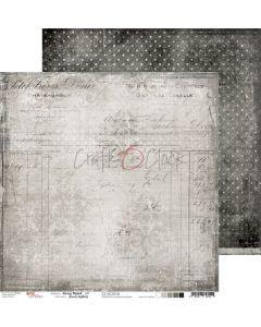 Dvostranski papir - GRAY MOOD 03 - 30,5 x 30,5 cm - 250g