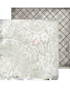 Dvostranski papir - GRAY MOOD 05 - 30,5 x 30,5 cm - 250g