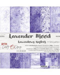 Set dvostranskih papirjev - LAVENDER MOOD - 30,5 x 30,5 cm - 250g - 6 listov