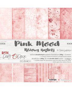 Set dvostranskih papirjev - PINK MOOD - 30,5 x 30,5 cm - 250g - 6 listov
