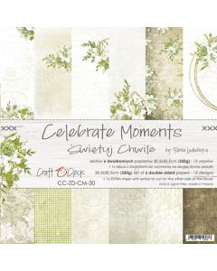 Set papirjev - CELEBRATE MOMENTS - 30,5 x 30,5 cm
