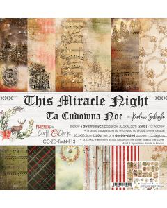 Set dvostranskih papirjev - THIS MIRACLE NIGHT - 30,5 x 30,5 cm - 250g - 6 listov
