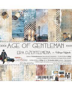 Set dvostranskih papirjev - AGE OF GENTLEMAN  - 15,25 x 15,25cm - 250g - 18 listov