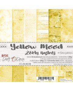 Set dvostranskih papirjev - YELLOW MOOD - 15,25 x 15,25cm - 250g - 18 listov