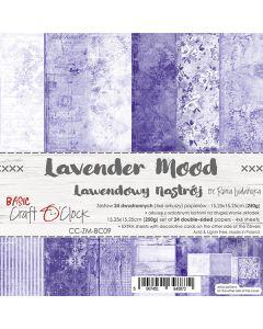 Set dvostranskih papirjev - LAVENDER MOOD - 15,25 x 15,25cm - 250g - 18 listov