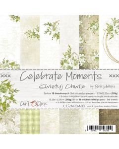Set papirjev - CELEBRATE MOMENTS - 15,25 x 15,25 cm