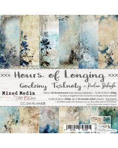 Set dvostranskih papirjev - HOURS OF LONGING - 15,25 x 15,25cm - 250g - 18 listov