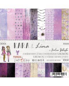 Set papirjev - KARA & LINA 15,25 x 15,25 cm