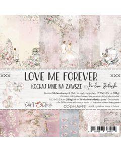 Set papirjev - LOVE ME FOREVER - 15,25 x 15,25 cm