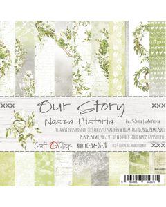Set papirjev - OUR STORY 15,25 x 15,25 cm