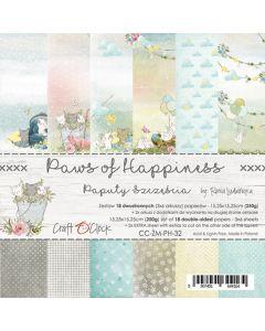Set papirjev - PAWS OF HAPPINESS - 15,25 x 15,25 cm