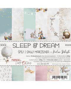 Set papirjev - SLEEP & DREAM - 15,25 x 15,25 cm