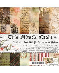 Set dvostranskih papirjev - THIS MIRACLE NIGHT - 15,25 x 15,25cm - 250g - 18 listov
