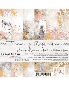 Set dvostranskih papirjev - TIME OF REFLECTION - 15,25 x 15,25cm - 250g - 18 listov