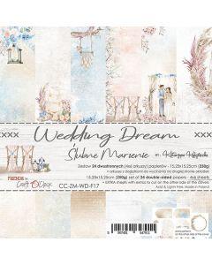 Set dvostranskih papirjev - WEDDING DREAM - 15,25 x 15,25cm - 250g - 18 listov