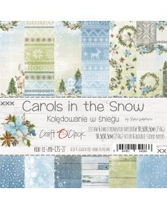 Set papirjev - CAROLS IN THE SNOW 30,5 x 30,5 cm