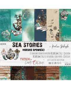 Set papirjev - SEA STORIES 30,5 x 30,5 cm