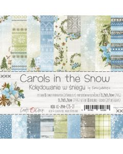 Set papirjev - CAROLS IN THE SNOW 15,25 x 15,25 cm