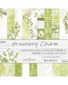 Set papirjev - GREENERY CHARM 15,25 x 15,25 cm