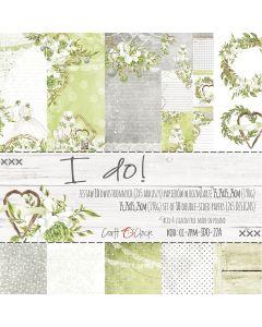 Set papirjev - I DO! 15,25 x 15,25 cm