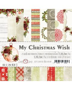 Set papirjev - MY CHRISTMAS WISH 15,25 x 15,25 cm