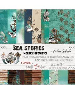 Set papirjev - SEA STORIES 15,25 x 15,25 cm