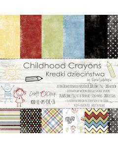 Set papirjev - CHILDHOOD CRAYONS 20,3 x 20,3 cm