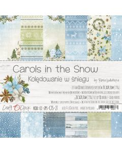 Set papirjev - CAROLS IN THE SNOW 20,3 x 20,3 cm