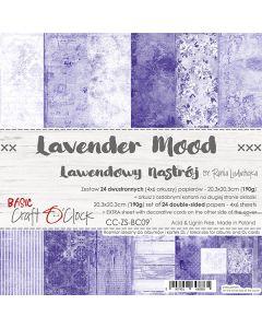 Set dvostranskih papirjev - LAVENDER MOOD - 20,3 x 20,3 cm - 190g - 18 listov