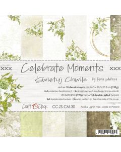 Set papirjev - CELEBRATE MOMENTS - 20,3 x 20,3 cm