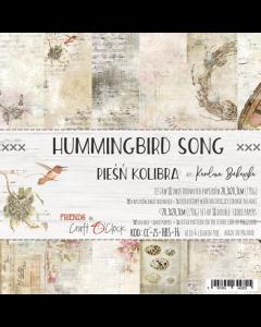 Set papirjev - HUMMINGBIRDS SONG 20,3 x 20,3 cm