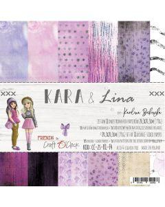 Set papirjev - KARA & LINA 20,3 x 20,3 cm