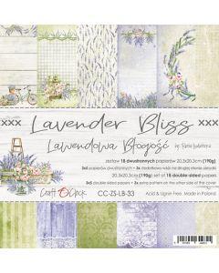 Set papirjev - LAVENDER BLISS - 20,3 x 20,3 cm