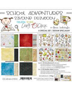 Posebna izdaja - SCHOOL ADVENTURES - 20,3 x 20,3 cm - 190g - 32 listov