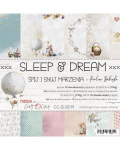 Set papirjev - SLEEP & DREAM - 20,3 x 20,3 cm