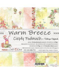 Set dvostranskih papirjev - WARM BREEZE - 20,3 x 20,3 cm - 190g - 18 listov