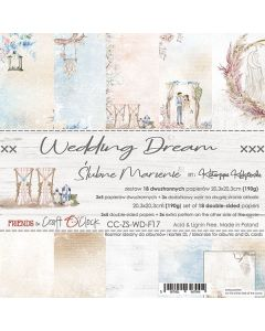 Set dvostranskih papirjev - WEDDING DREAM - 20,3 x 20,3 cm - 190g - 18 listov
