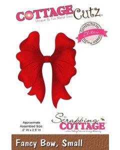Rezalna šablona CottageCutz Fancy Bow, Small
