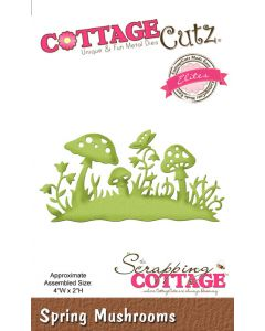 Rezalna šablona CottageCutz Spring Mushrooms