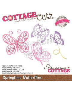 Rezalna šablona CottageCutz Springtime Butterflies