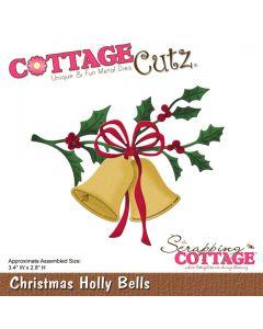 Rezalna šablona CottageCutz Christmas Holly Bells
