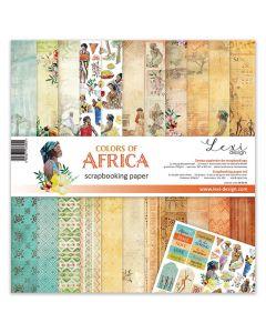 Set dvostranskih papirjev - Colors of Africa - 30,5x30,5cm - 250g - 11 listov+bonus list - Lexi Design