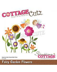 Rezalna šablona CottageCutz Fairy Garden Flowers