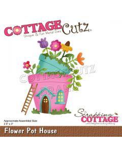 Rezalna šablona CottageCutz Flower Pot House