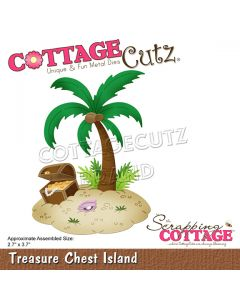 Rezalna šablona CottageCutz Treasure Chest Island